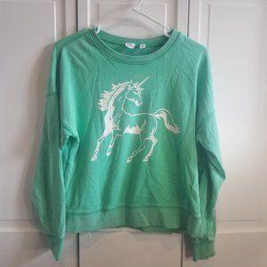 Green Unicorn Crewneck Sweatshirt Gap Kids